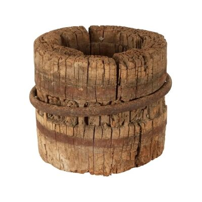 Jiading 120 Year Antique Elm Timber Wheel Axle