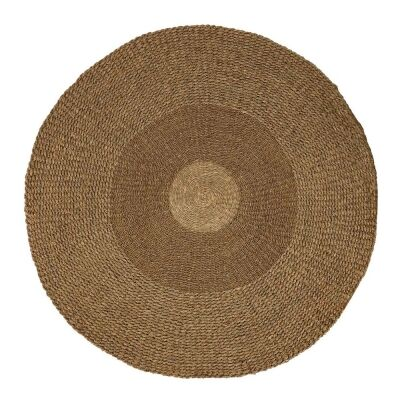 Oshu Woven Seagrass Round Rug, 150cm
