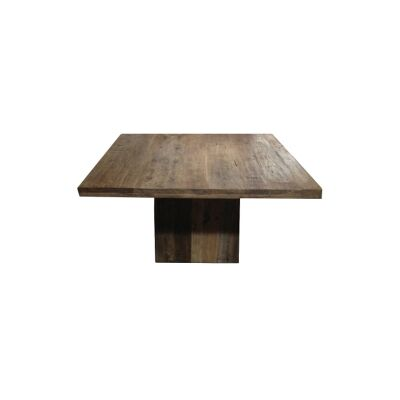 Kersia Reclaimed Elm Timber Square Dining Table, 140cm