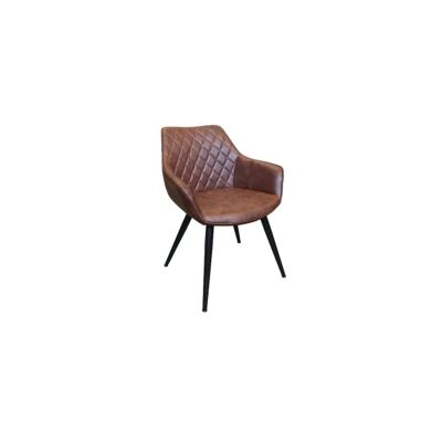Bretagne Faux Leather Dining Armchair, Brown