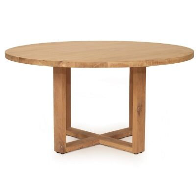 St Ives American Oak Round Dining Table, 180cm