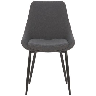 Domo Commercial Grade Fabric Dining Chair, Charcoal