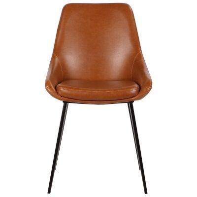 Domo Commercial Grade Faux Leather Dining Chair, Tan
