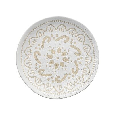 Ecology Shortbread Stoneware Side Plate, Candy Cane