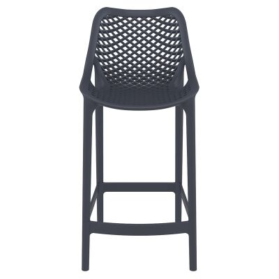Siesta Air Commercial Grade Indoor / Outdoor Counter Stool, Anthracite