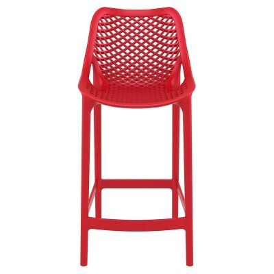 Siesta Air Commercial Grade Indoor / Outdoor Counter Stool, Red