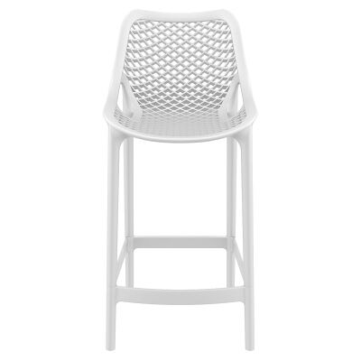Siesta Air Commercial Grade Indoor / Outdoor Counter Stool, White