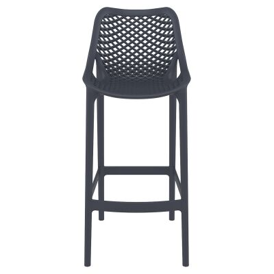 Siesta Air Commercial Grade Indoor / Outdoor Bar Stool, Anthracite