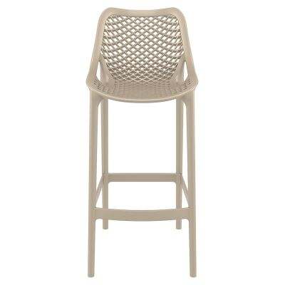Siesta Air Commercial Grade Indoor / Outdoor Bar Stool, Taupe
