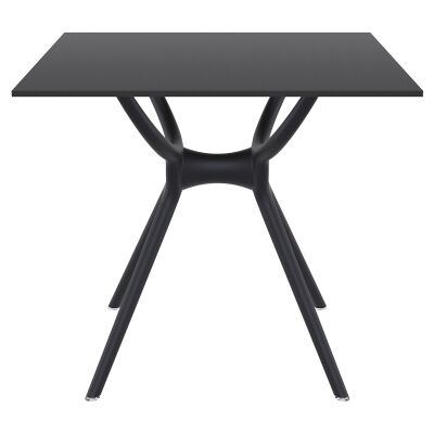 Siesta Air Commercial Grade Indoor / Outdoor Square Dining Table, 80cm, Black