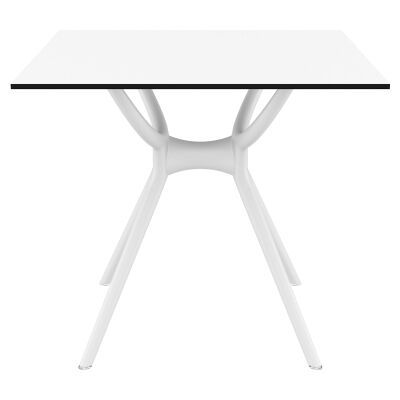 Siesta Air Commercial Grade Indoor / Outdoor Square Dining Table, 80cm, White