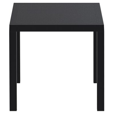 Siesta Ares Indoor / Outdoor Square Dining Table, 80cm, Black