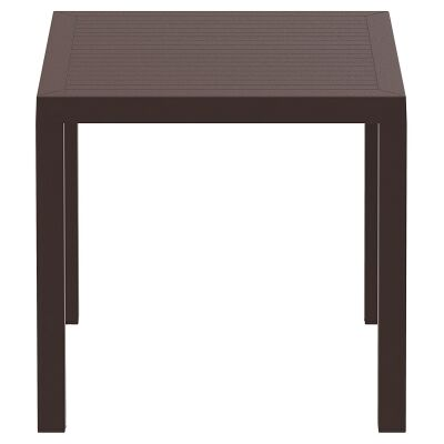 Siesta Ares Indoor / Outdoor Square Dining Table, 80cm, Chocolate