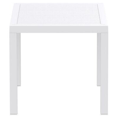 Siesta Ares Indoor / Outdoor Square Dining Table, 80cm, White