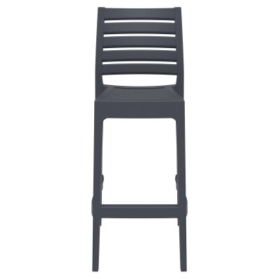 Siesta Ares Commercial Grade Indoor / Outdoor Bar Stool, Anthracite