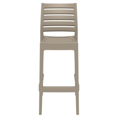 Siesta Ares Commercial Grade Indoor / Outdoor Bar Stool, Taupe