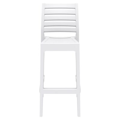 Siesta Ares Commercial Grade Indoor / Outdoor Bar Stool, White