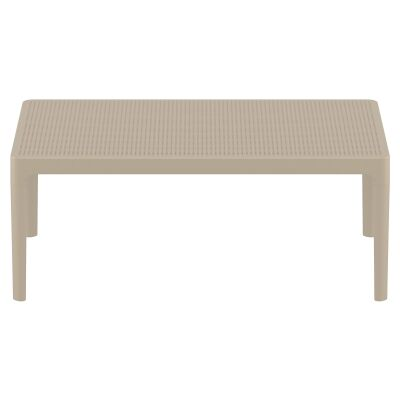 Siesta Sky Commercial Grade Indoor / Outdoor Coffee Table, 100cm, Taupe