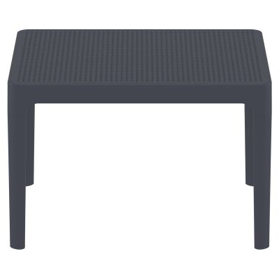 Siesta Sky Commercial Grade Indoor / Outdoor Side Table, 100cm, Anthracite