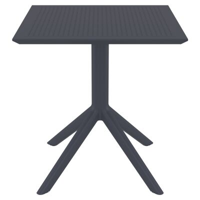 Siesta Sky Commercial Grade Indoor / Outdoor Square Dining Table, 70cm, Anthracite