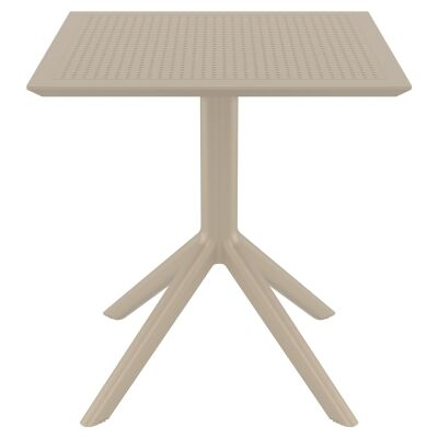 Siesta Sky Commercial Grade Indoor / Outdoor Square Dining Table, 70cm, Taupe