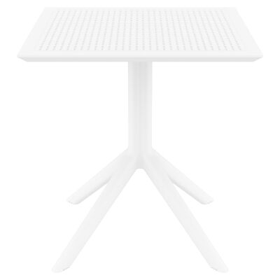 Siesta Sky Commercial Grade Indoor / Outdoor Square Dining Table, 70cm, White