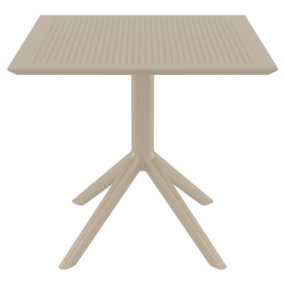Siesta Sky Commercial Grade Indoor / Outdoor Square Dining Table, 80cm, Taupe