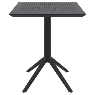 Siesta Sky Commercial Grade Indoor / Outdoor Square Folding Dining Table, 60cm, Black