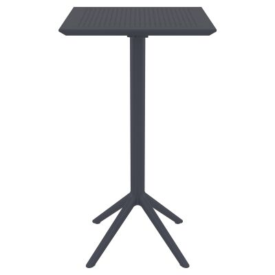 Siesta Sky Commercial Grade Indoor / Outdoor Square Folding Bar Table, 60cm, Anthracite