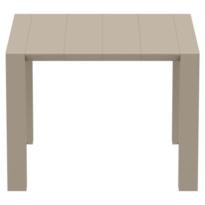 Siesta Vegas Commercial Grade Outdoor Extendible Dining Table, 100-140cm, Taupe