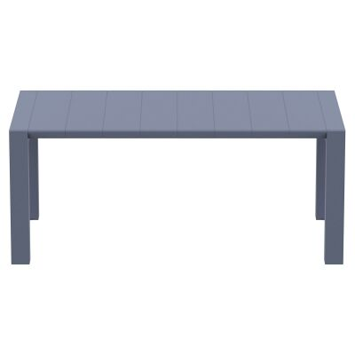 Siesta Vegas Commercial Grade Outdoor Extendible Dining Table, 180-220cm, Anthracite