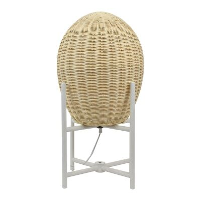 Haven Ratta Table Lamp on Metal Stand