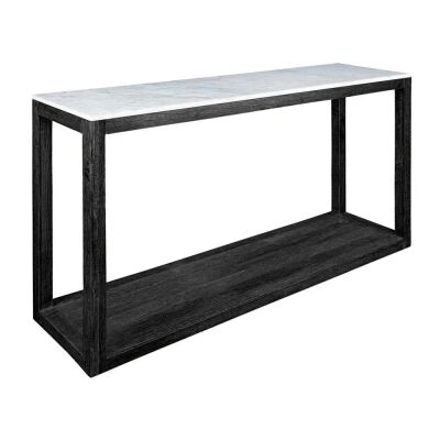 Denver Marble Topped Timber Console Table, 150cm