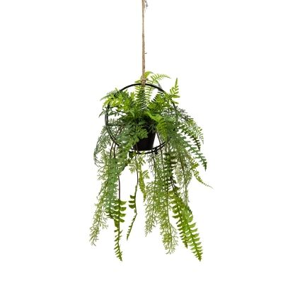 Andes Mixed Artificial Fern in Hanging Pot, 70cm