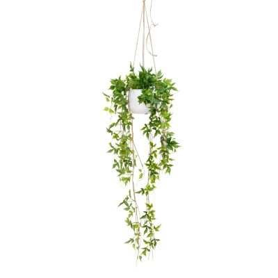 Glamorous Fusion Artificial Maple Fern in Hanging Pot, 128cm