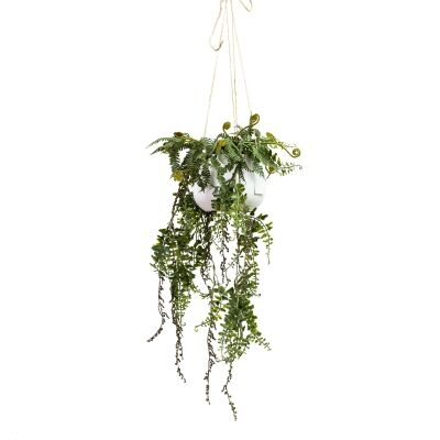 Glamorous Fusion Artificial Barker Fern in Hanging Pot, 87cm