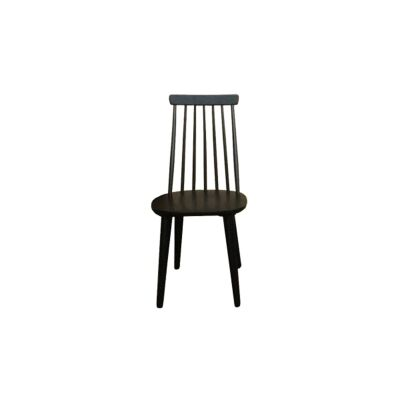 Claude Timber Dining Chair, Black