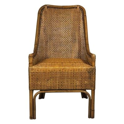 Albany Rattan Dining Chair, Honey Brown