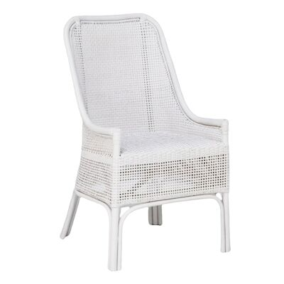 Albany Rattan Dining Chair, White