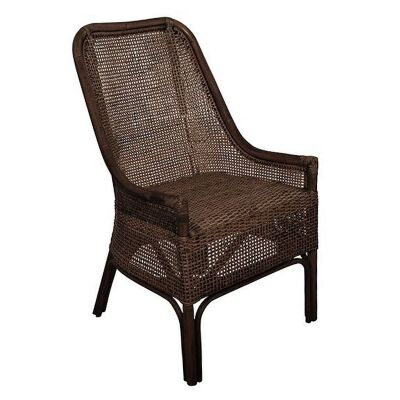 Albany Rattan Dining Chair, Chocolate