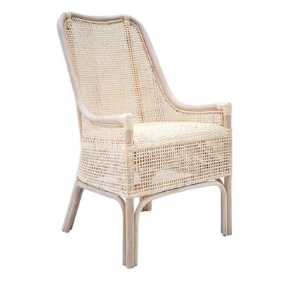 Albany Rattan Dining Chair, Light Blonde