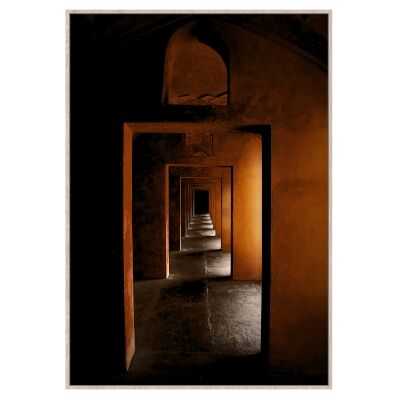 """""""Moroccan Arches"""" Framed Canvas Wall Art Print, No.2, 120cm"""
