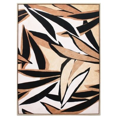 """""""Panthera Leaves"""" Framed Canvas Wall Art Print, 110cm"""