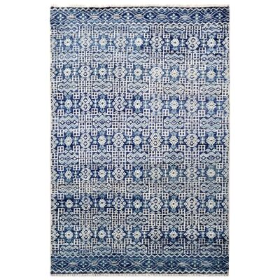 Royal Jaipur Hand Knotted Wool Rug, 148x244cm, Blue