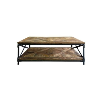 Payre Reclaimed Timber & Iron Industrial Coffee Table, 120cm
