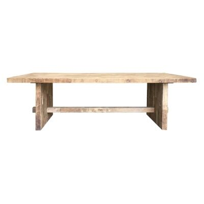 Pablo Reclaimed Elm Timber Dining Table, 240cm