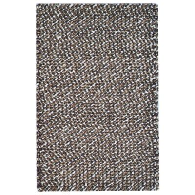 Jelly Bean Handwoven Felted Wool Rug, 230x160cm, Brown