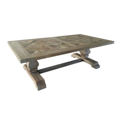 Parco Reclaimed Elm Timber Pedestal Coffee Table, 135cm