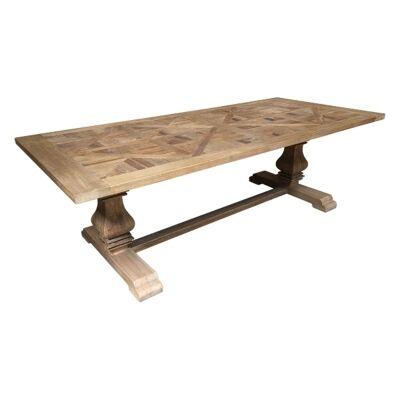 Parco Reclaimed Elm Timber Pedestal Dining Table, 200cm