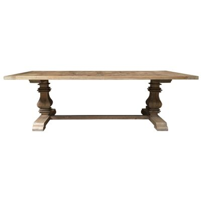 Parco Reclaimed Elm Timber Pedestal Dining Table, 245cm